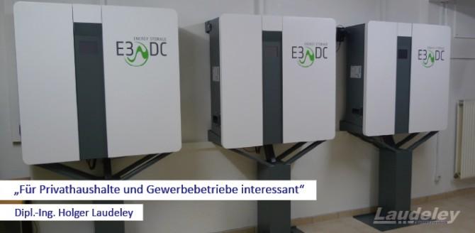 05.10.2012: Laudeley installiert drei Energiespeicher in einem Privathaushalt