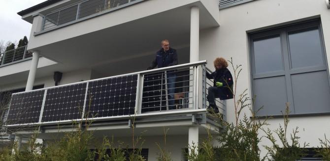 7.04.2015: Balkonkraftwerk deluxe in Gütersloh