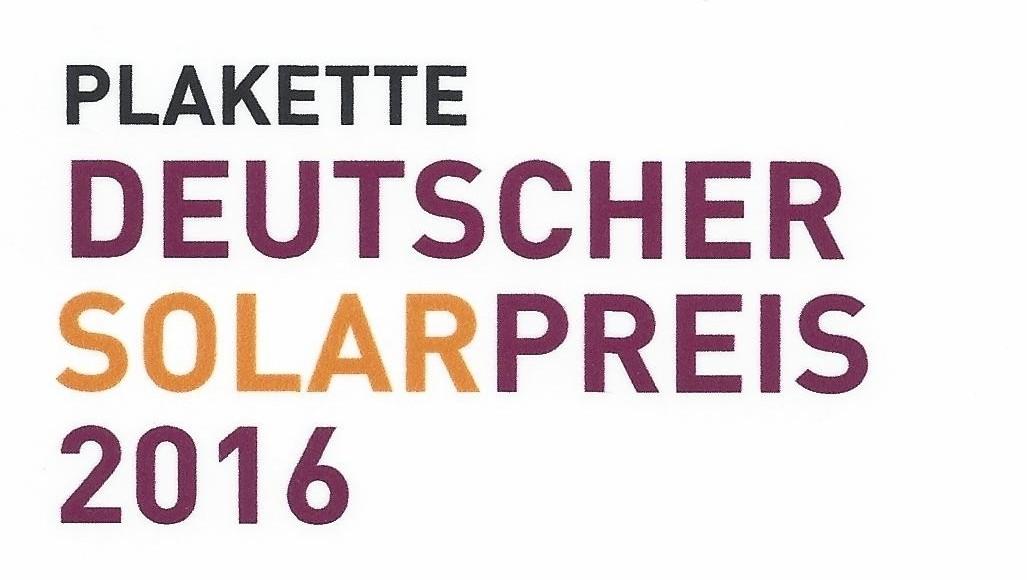 Deutsch. Solarpreis 2016