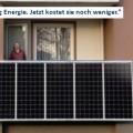 """26.01.2012: Laudeley entwickelt Solaranlage für den Balkon, das """"Balkon-Kraftwerk"""""""